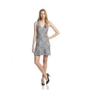 Joie Black and white cotton blend dress sz L